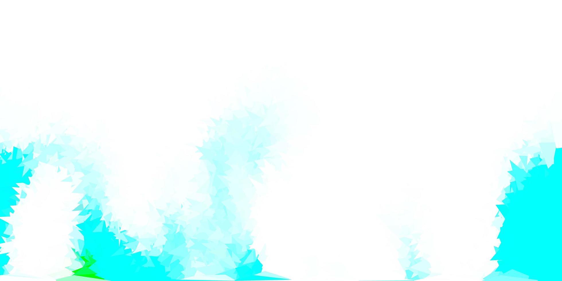 lichtblauwe, groene vector driehoek mozaïek achtergrond.