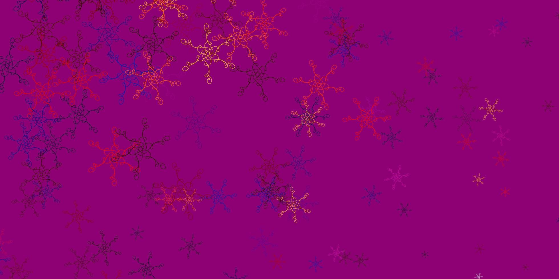 lichtblauwe, rode vectorlay-out met wrange lijnen. vector