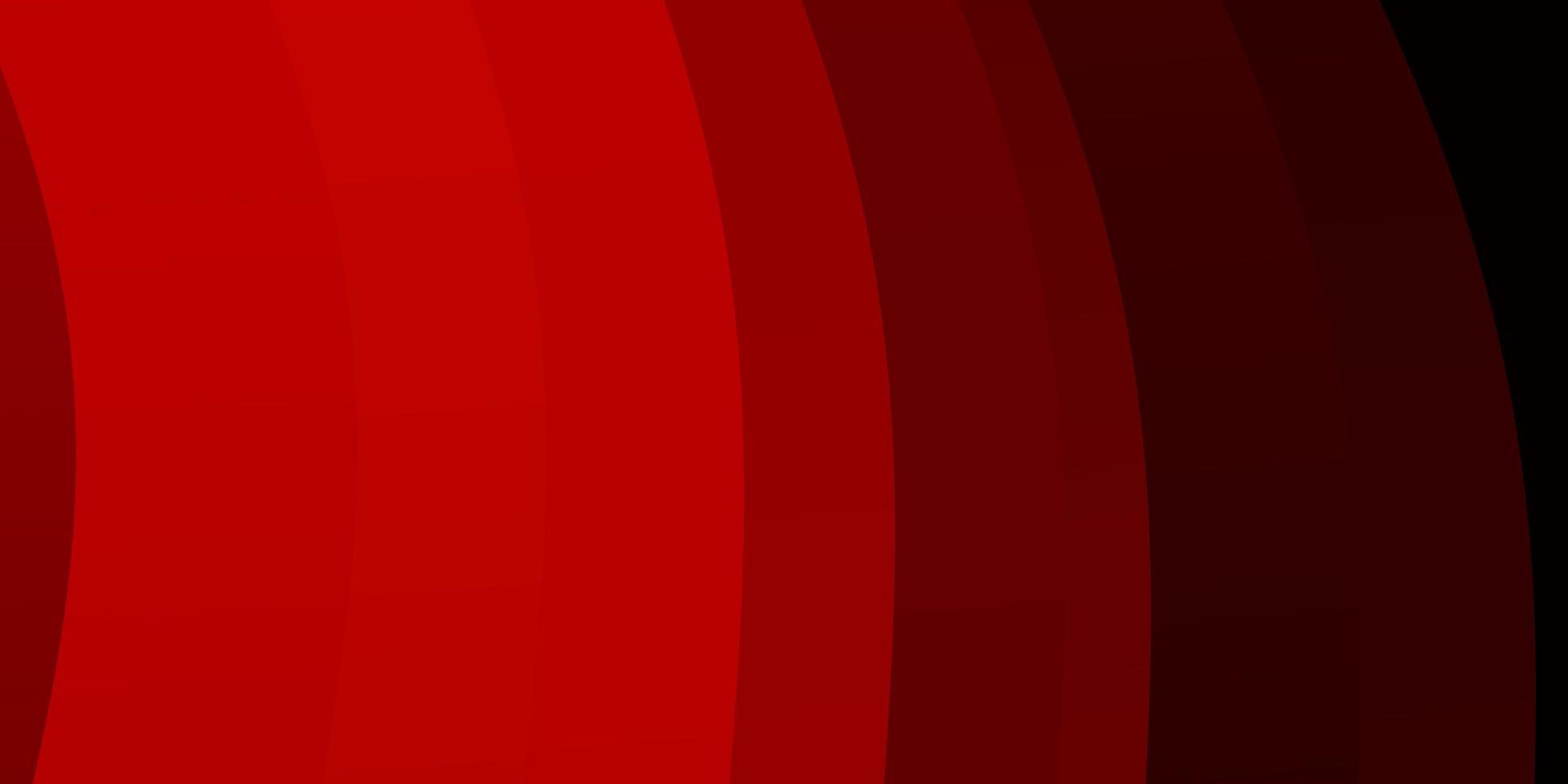lichtrood vectorpatroon met gebogen lijnen. vector