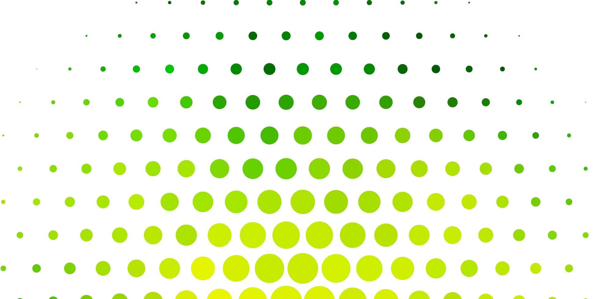 lichtgroene, gele vectorlay-out met cirkelvormen. vector