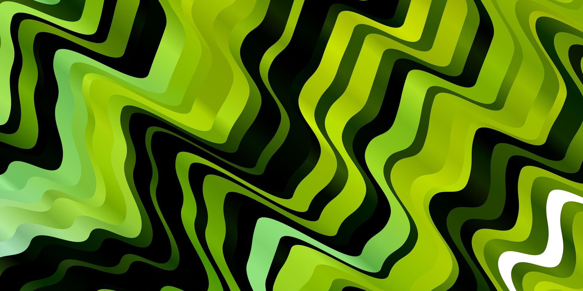 lichtgroene, gele vectortextuur met wrange lijnen. vector