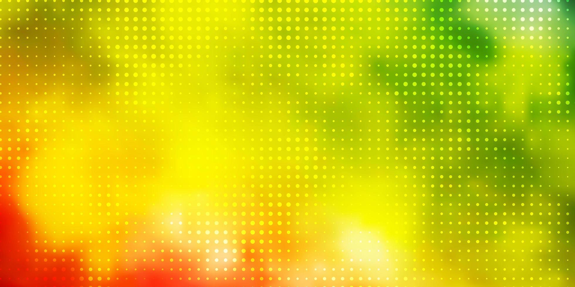 donkere veelkleurige vector achtergrond met stippen.