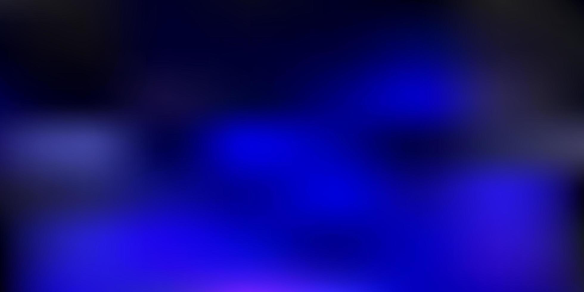 donkerblauwe vector abstracte achtergrond wazig.