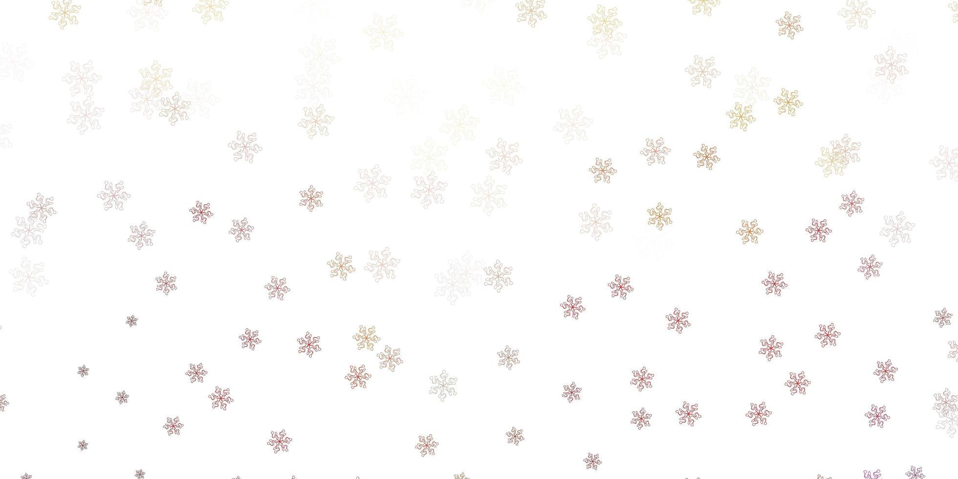 lichtrode vectorkrabbeltextuur met bloemen. vector