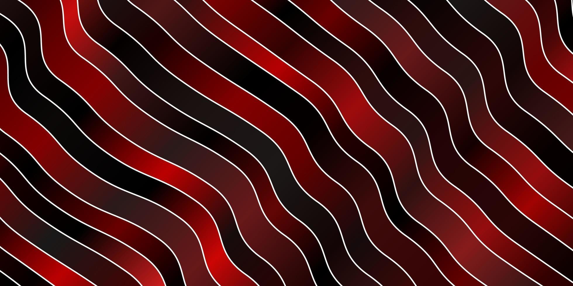 donkerrode vector achtergrond met gebogen lijnen.