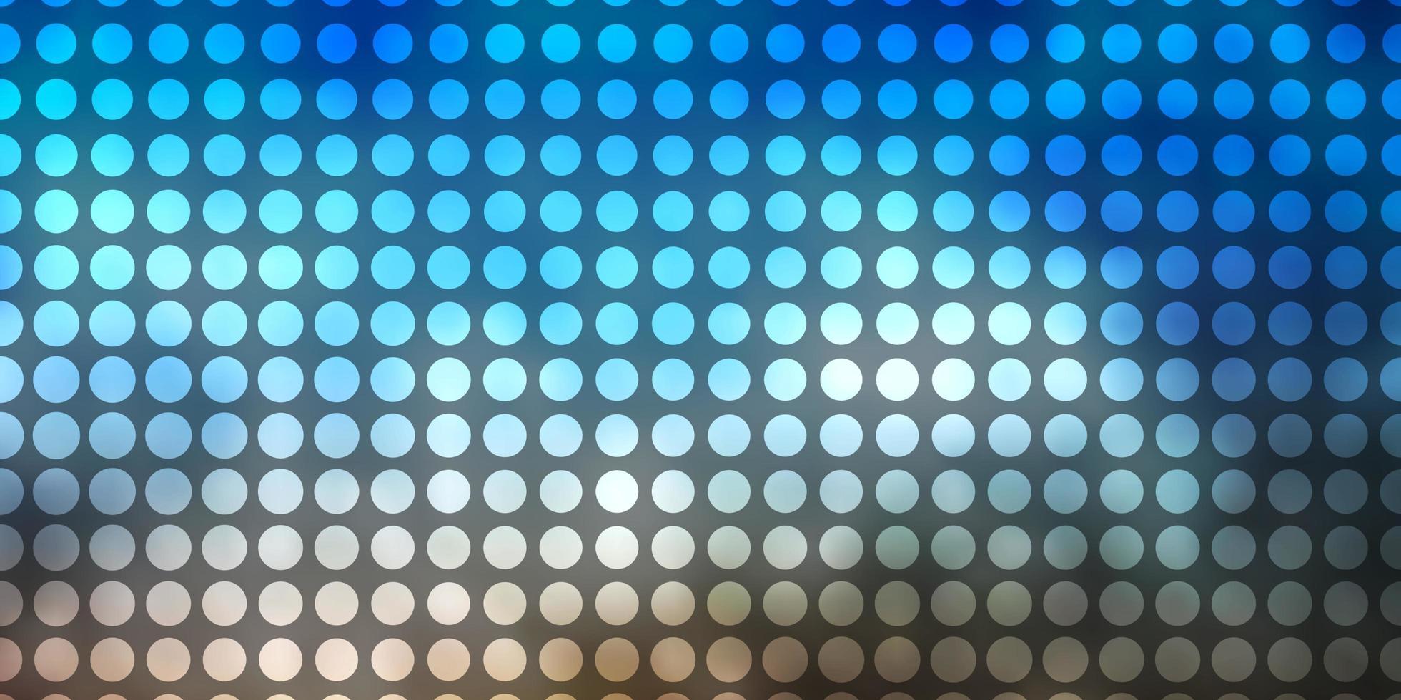 lichtblauwe, gele vectorachtergrond met cirkels. vector
