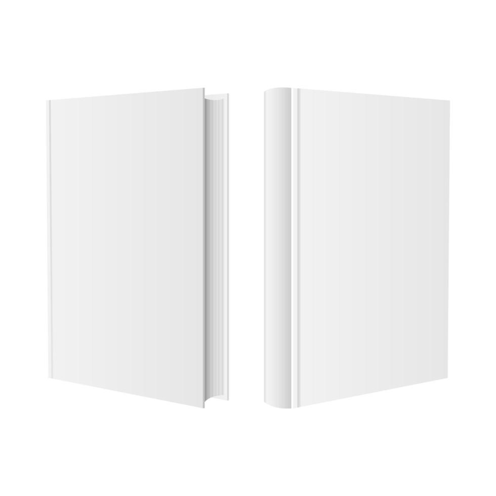 stijlvolle boek mockup vector ontwerp illustratie geïsoleerd op een witte achtergrond