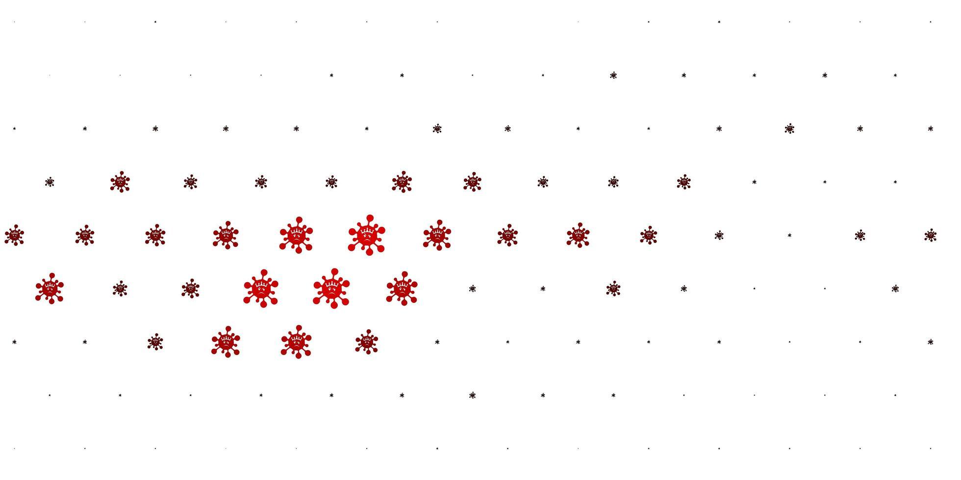 lichtrode vectortextuur met ziektesymbolen. vector