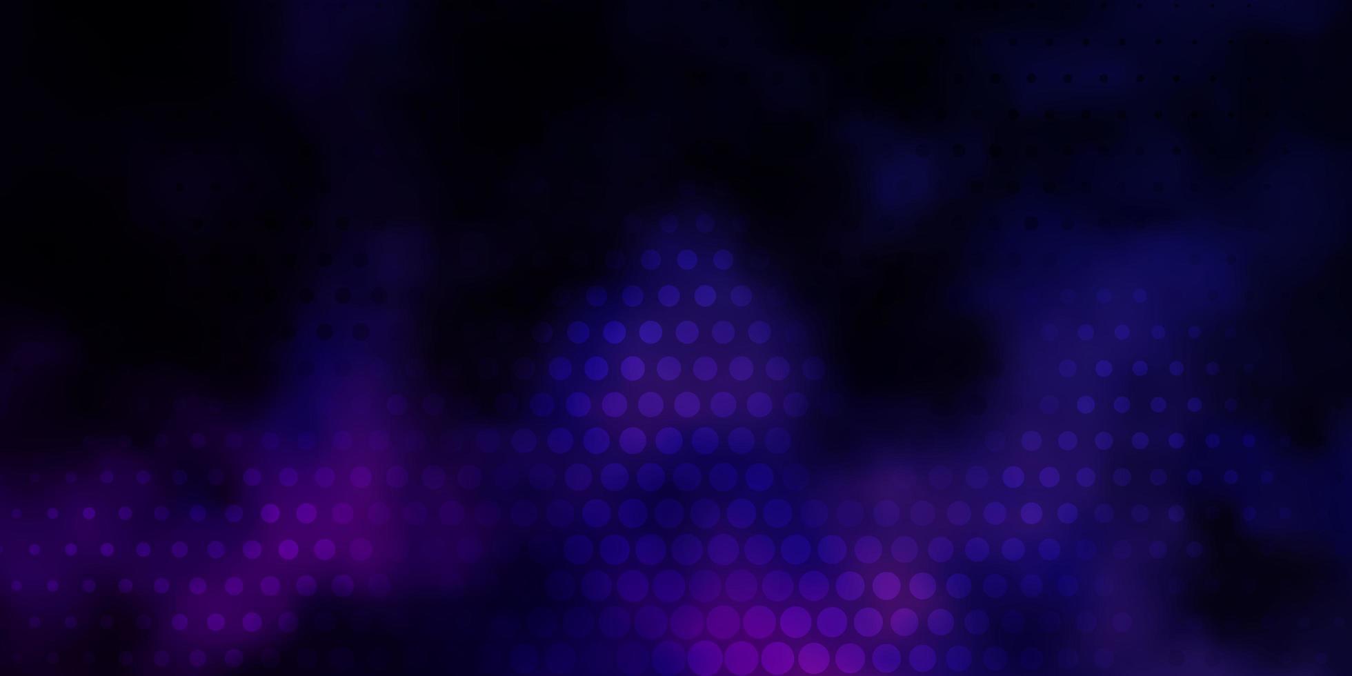 donkerpaars, roze vectorpatroon met bollen. vector