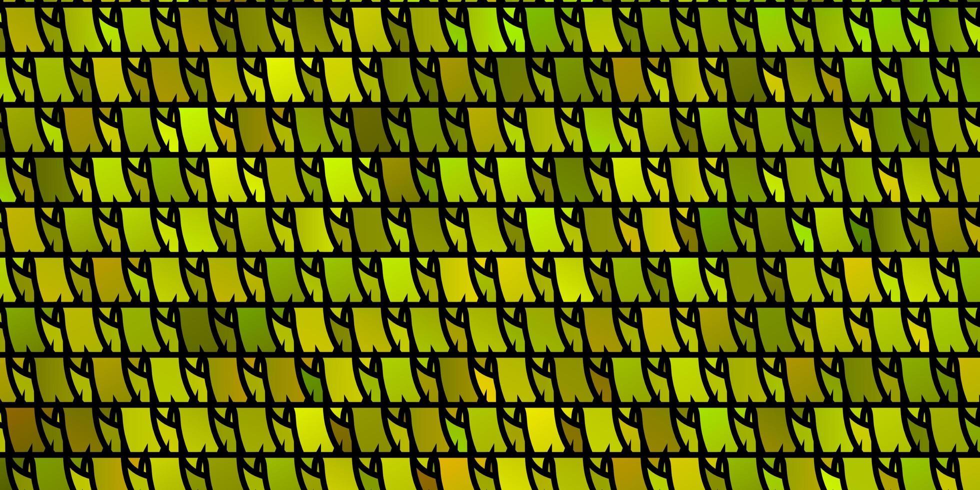 lichtgroen, geel vectorpatroon met veelhoekige stijl. vector