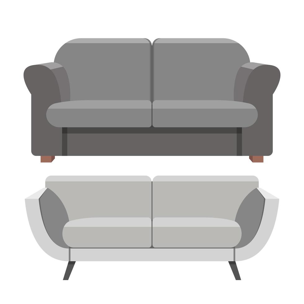 sofa vectorillustratie ontwerp geïsoleerd op een witte achtergrond vector