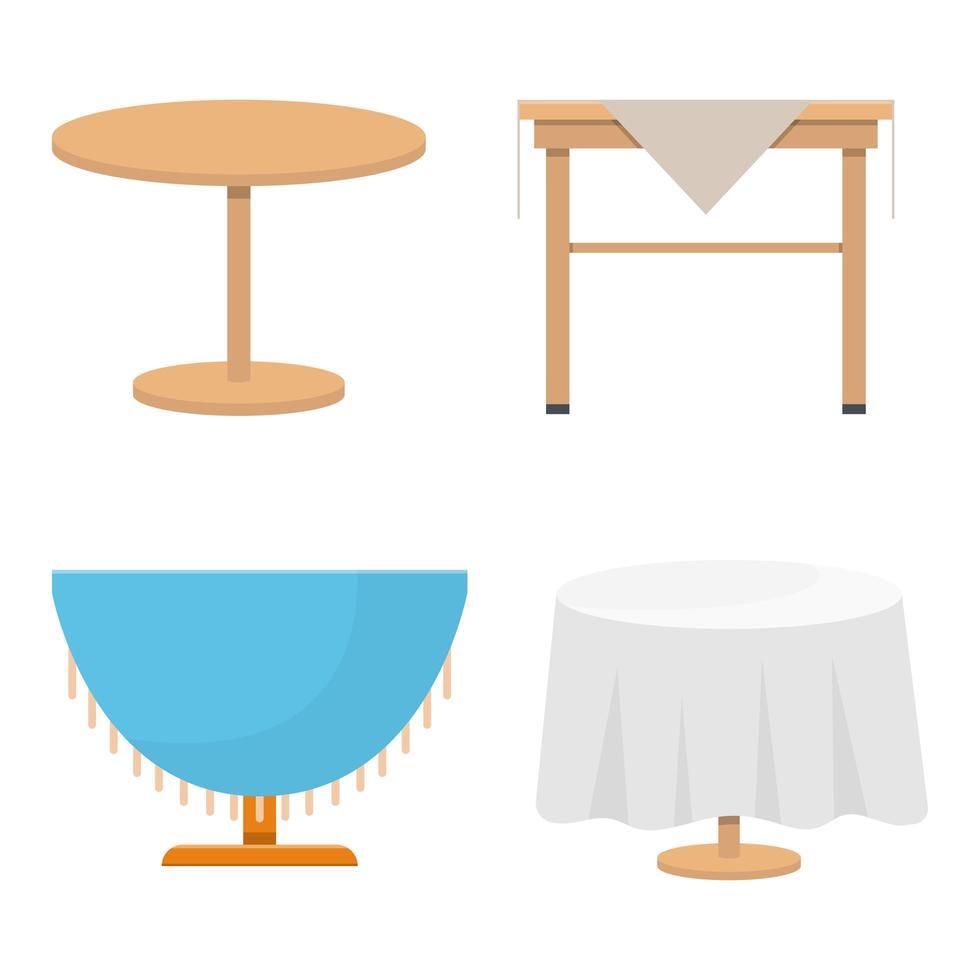 houten tafel vector ontwerp illustratie geïsoleerd op een witte achtergrond