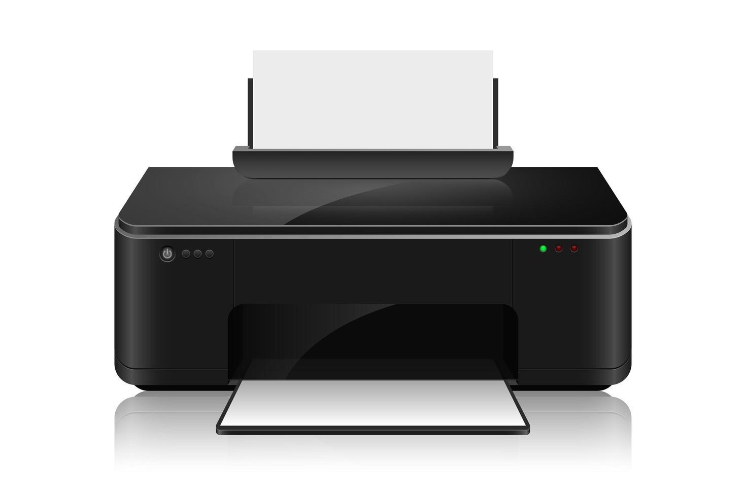 realistische inkjetprinter vector ontwerp illustratie isoalted op witte achtergrond