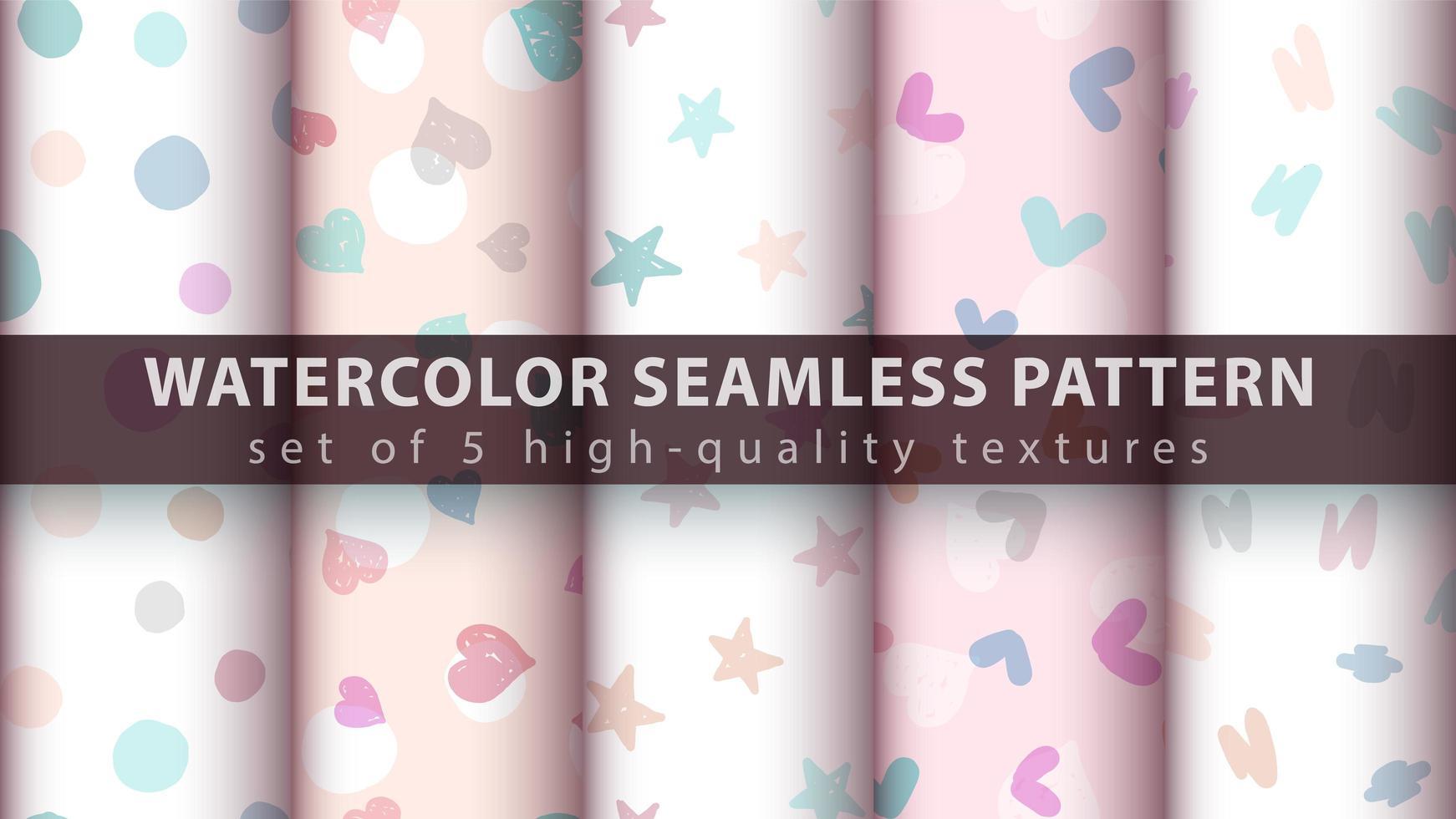 schattige roze naadloze patroon achtergrond instellen vector