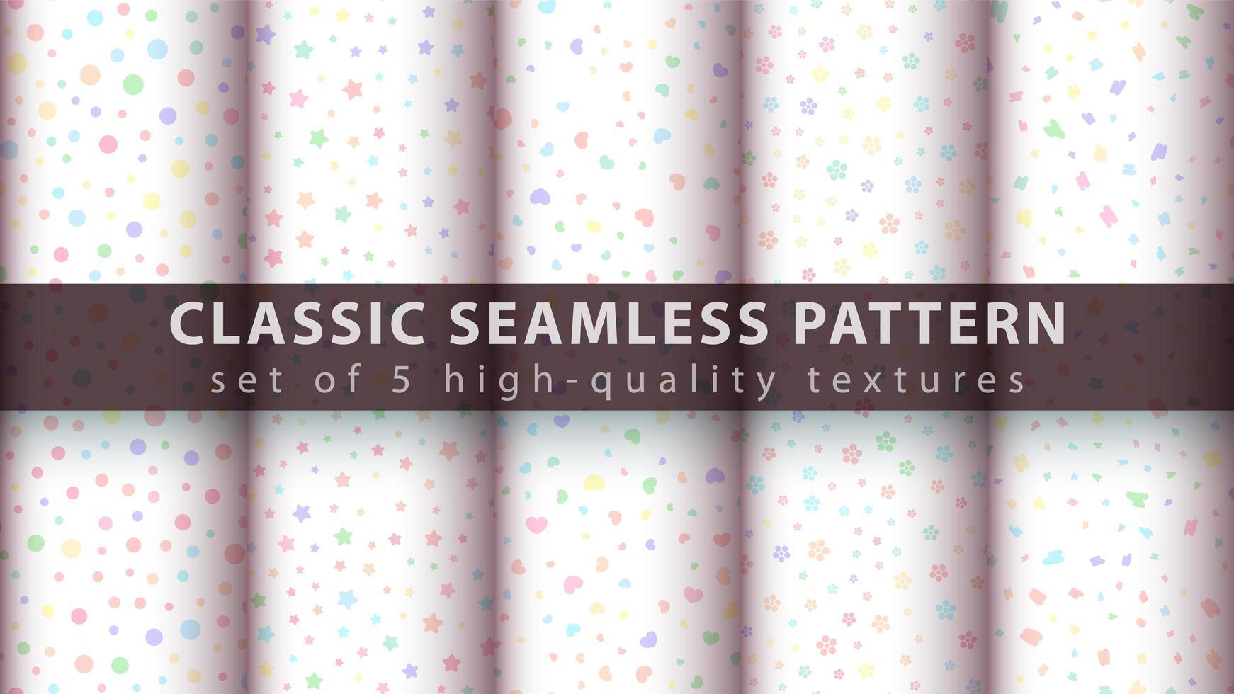 schattige delicate naadloze patroon achtergrond instellen vector