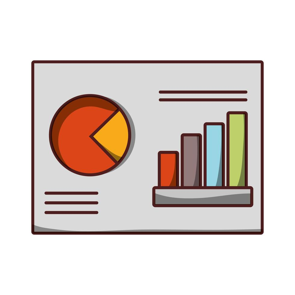 document grafiek preport bedrijfspictogram geïsoleerd ontwerp schaduw vector