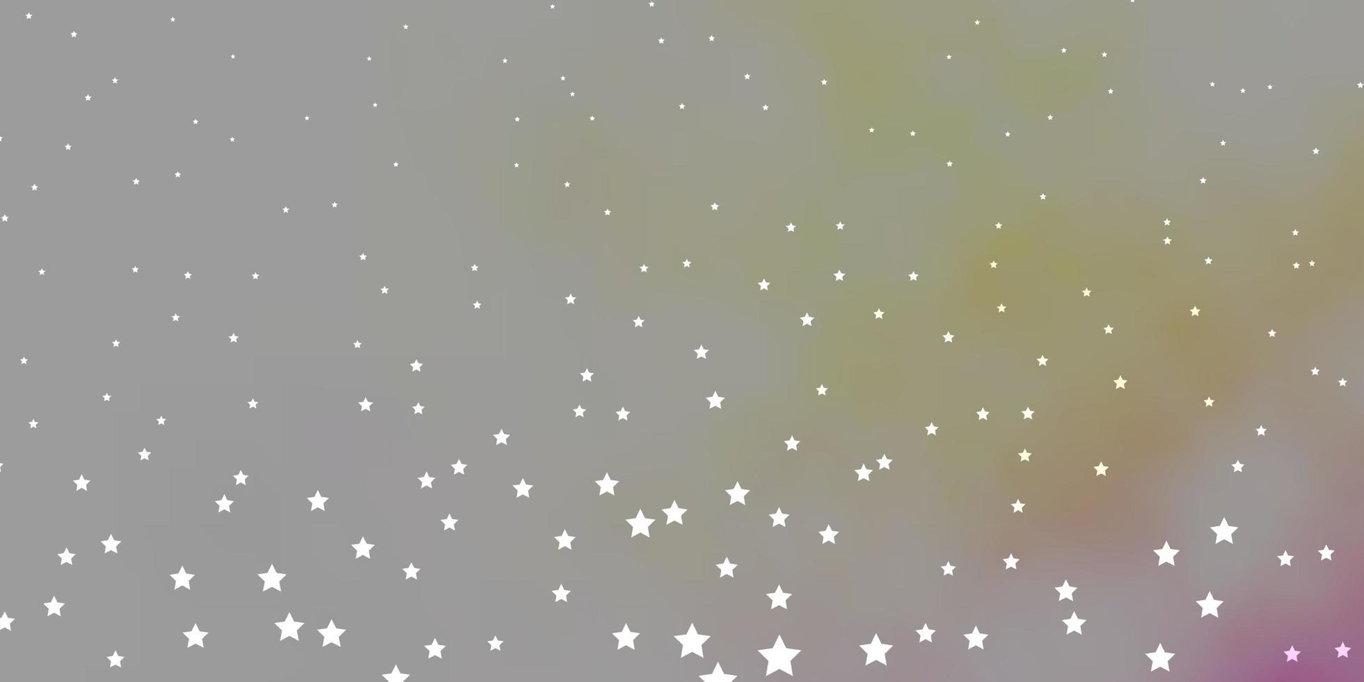donkerroze, gele vectortextuur met prachtige sterren vector