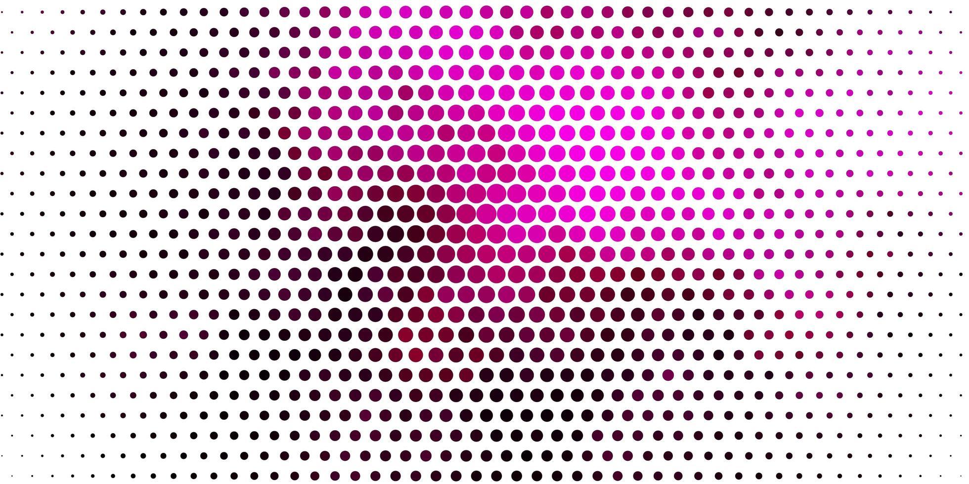 lichtroze vector patroon met bollen.
