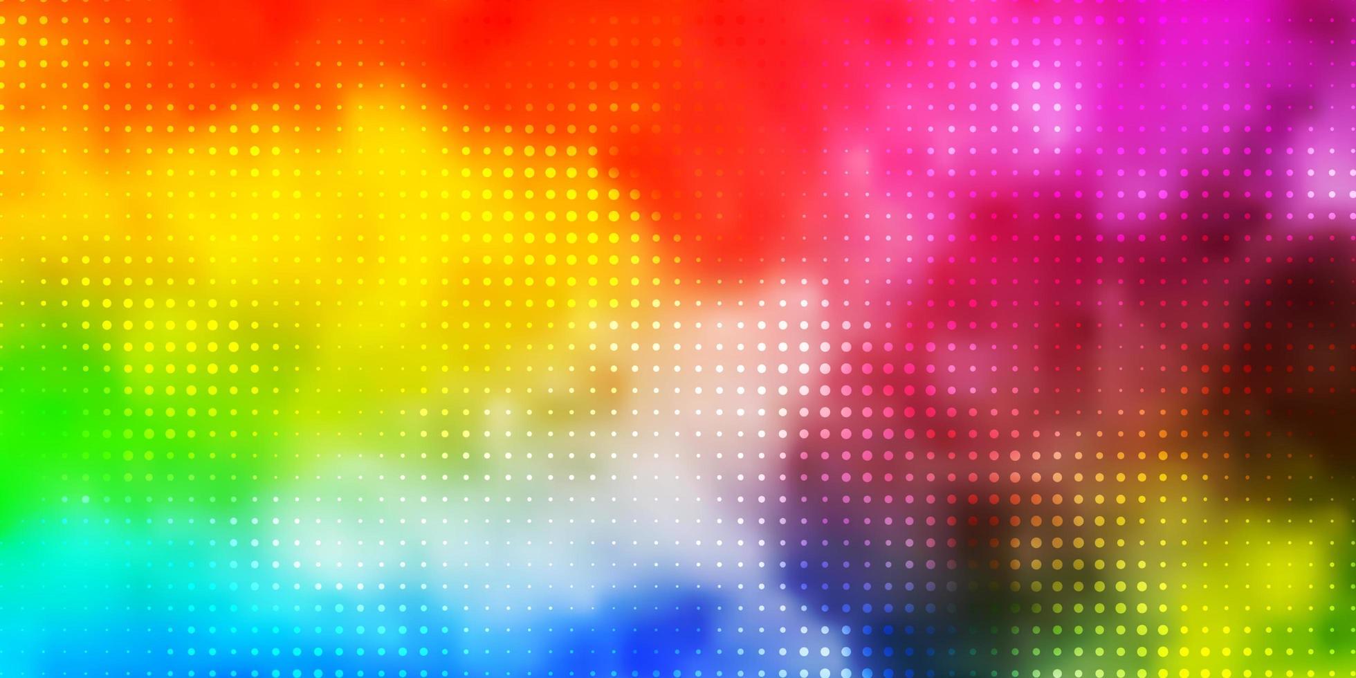 licht veelkleurige vectortextuur met cirkels. vector