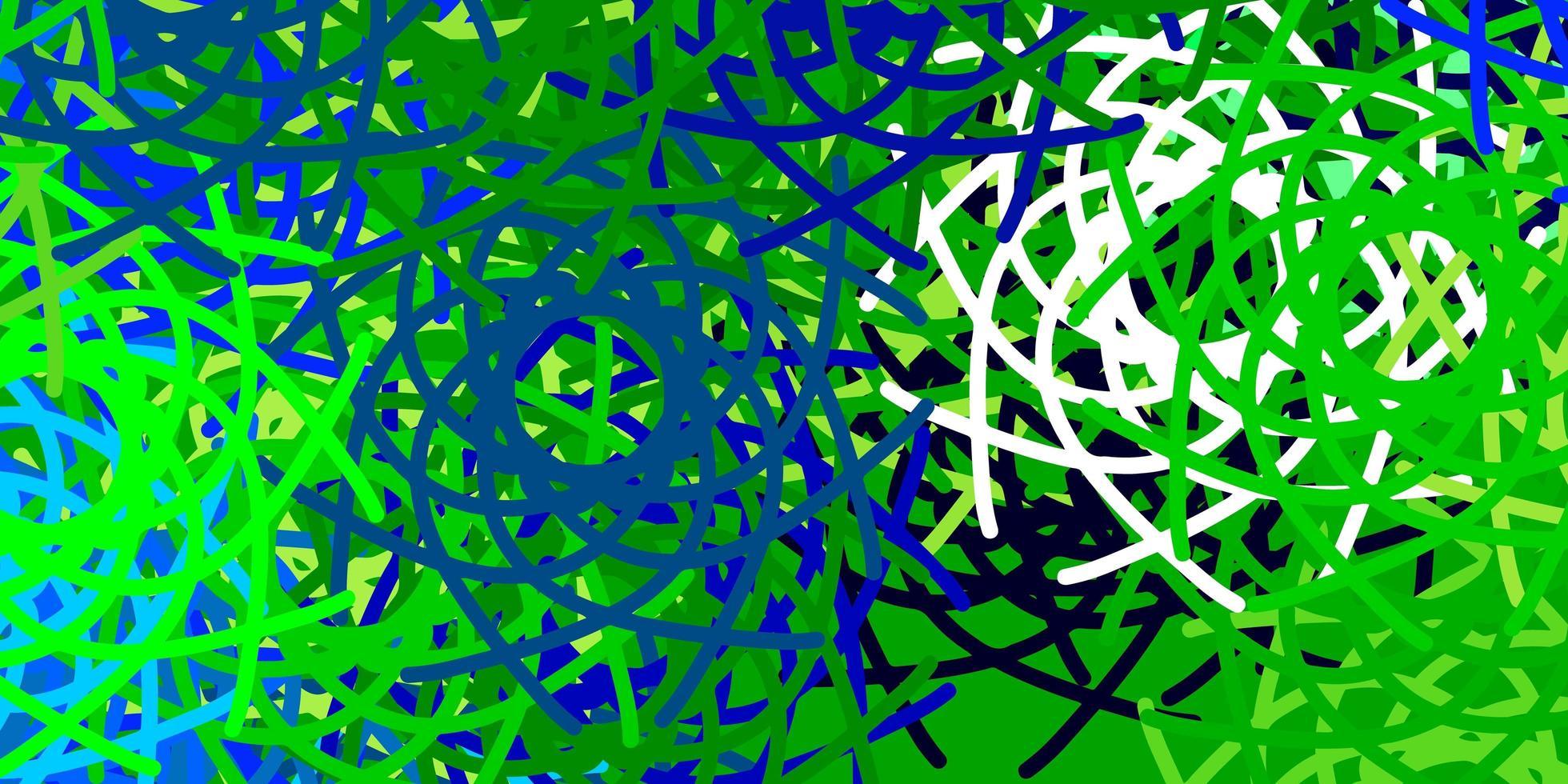 lichtblauw, groen vectormalplaatje met abstracte vormen. vector