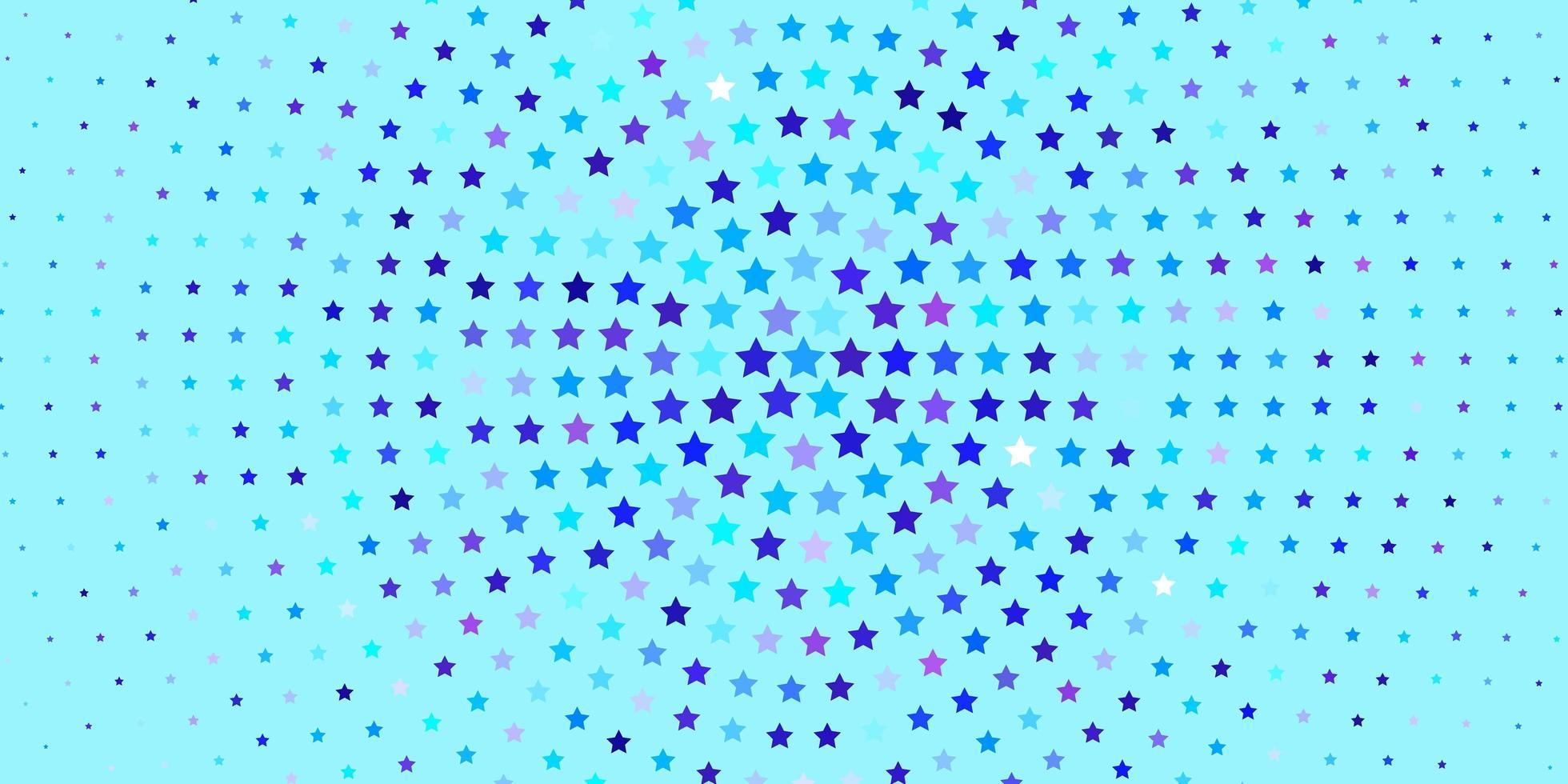 lichtroze, blauw vectorpatroon met abstracte sterren. vector
