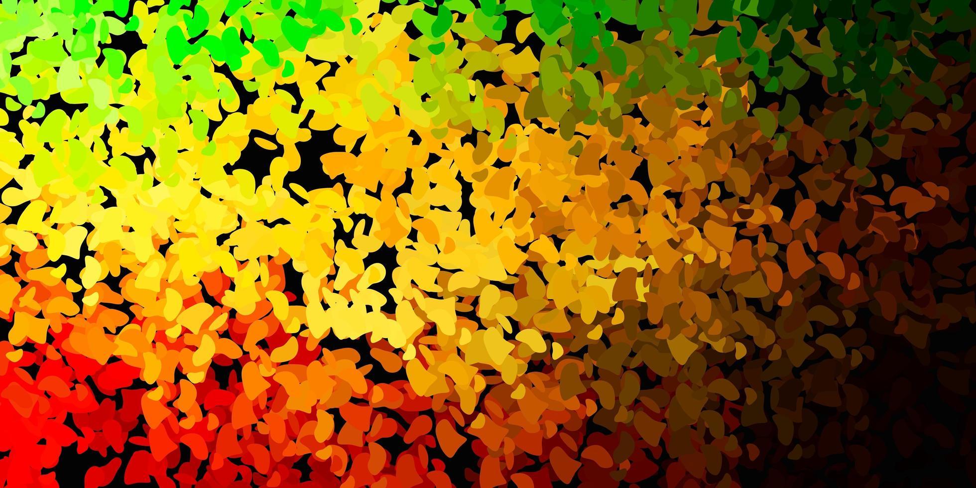 donkergroen, geel vectormalplaatje met abstracte vormen. vector