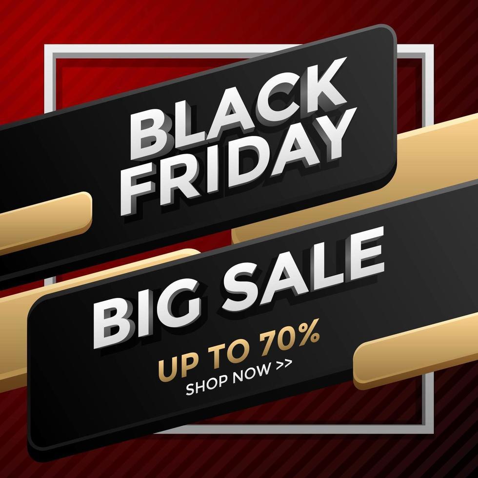 zwarte vrijdag grote verkoop vector