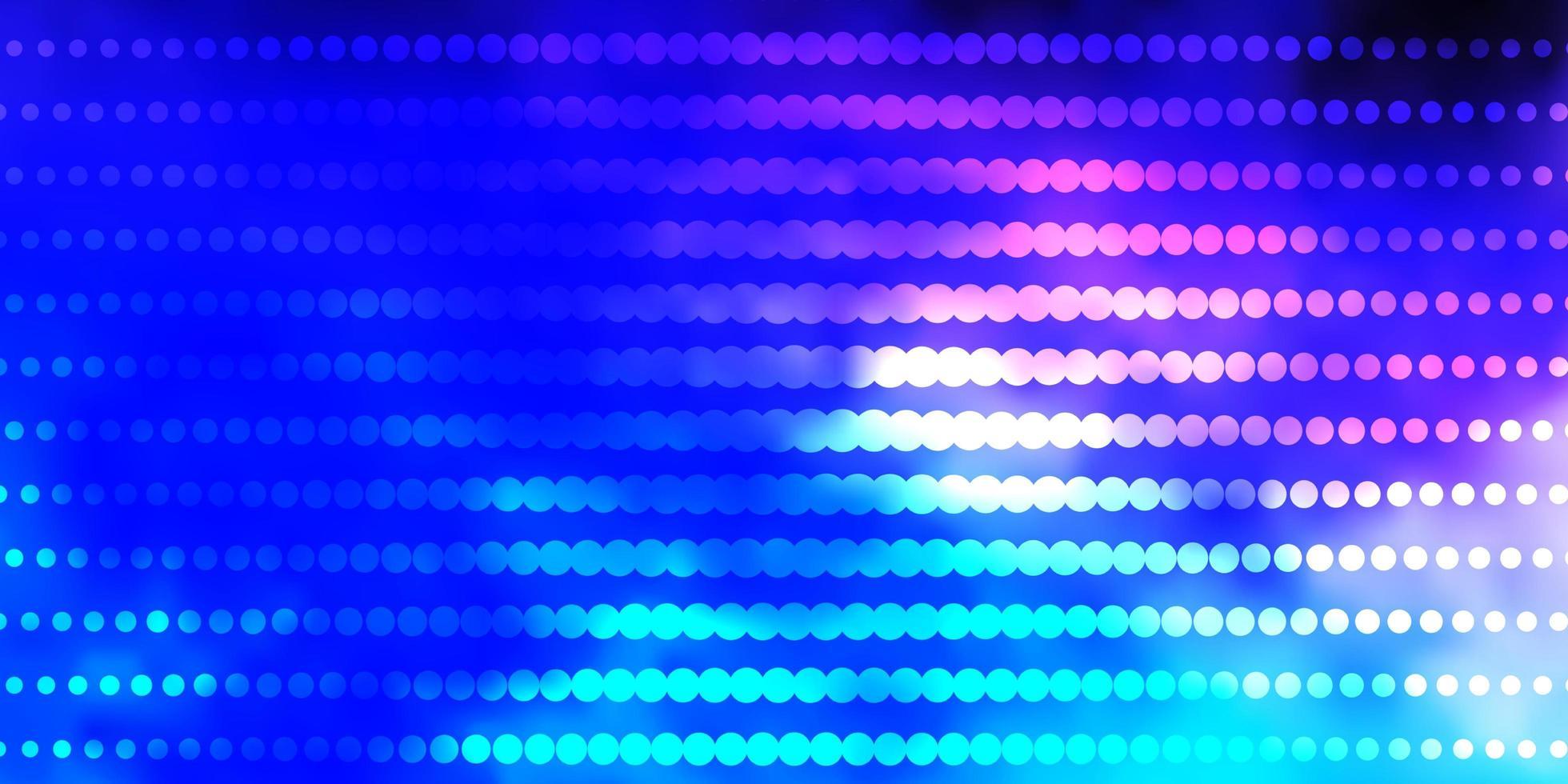 donkerroze, blauw vectorpatroon met cirkels. vector