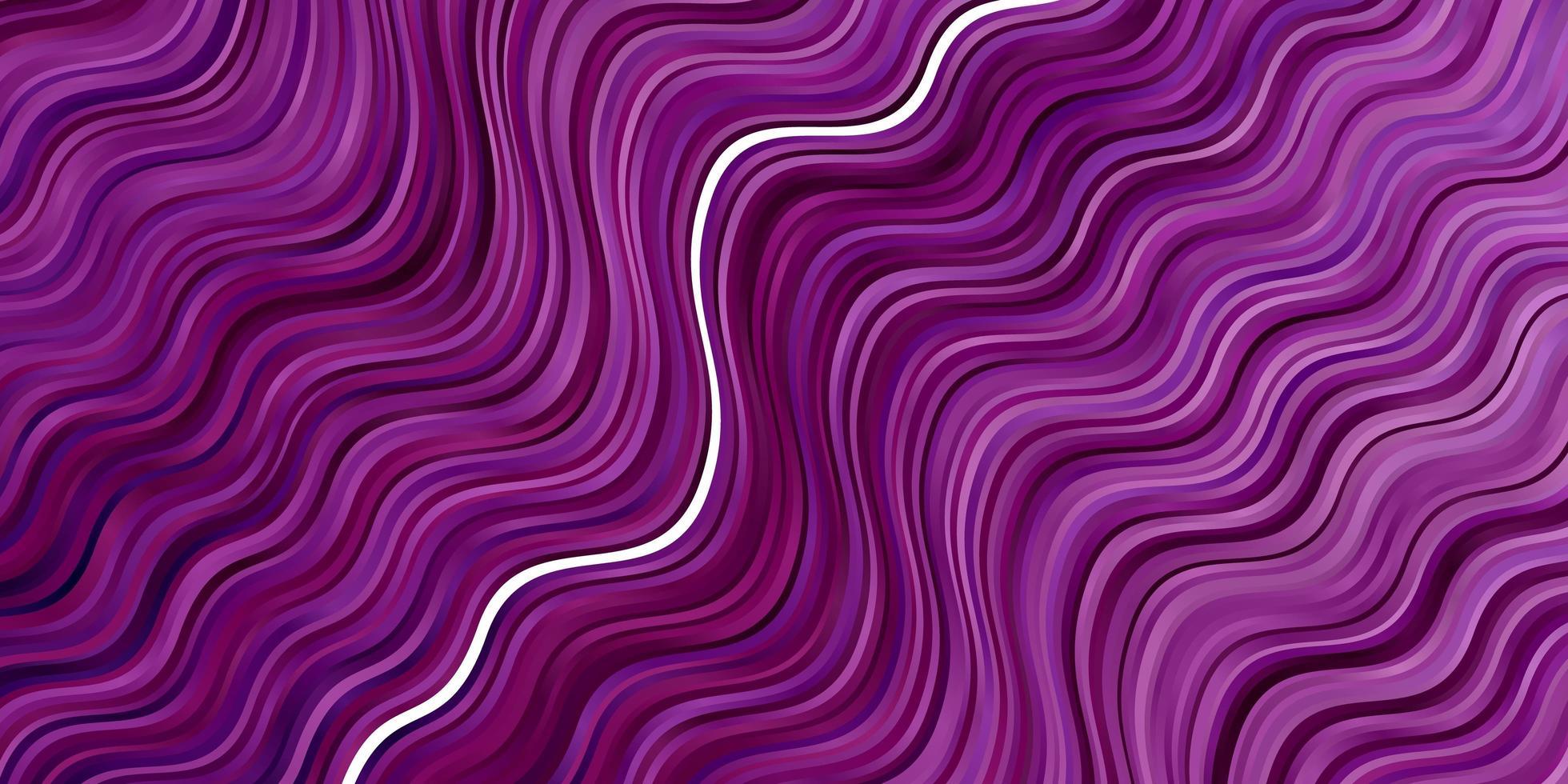 lichtpaarse, roze vectorachtergrond met gebogen lijnen. vector