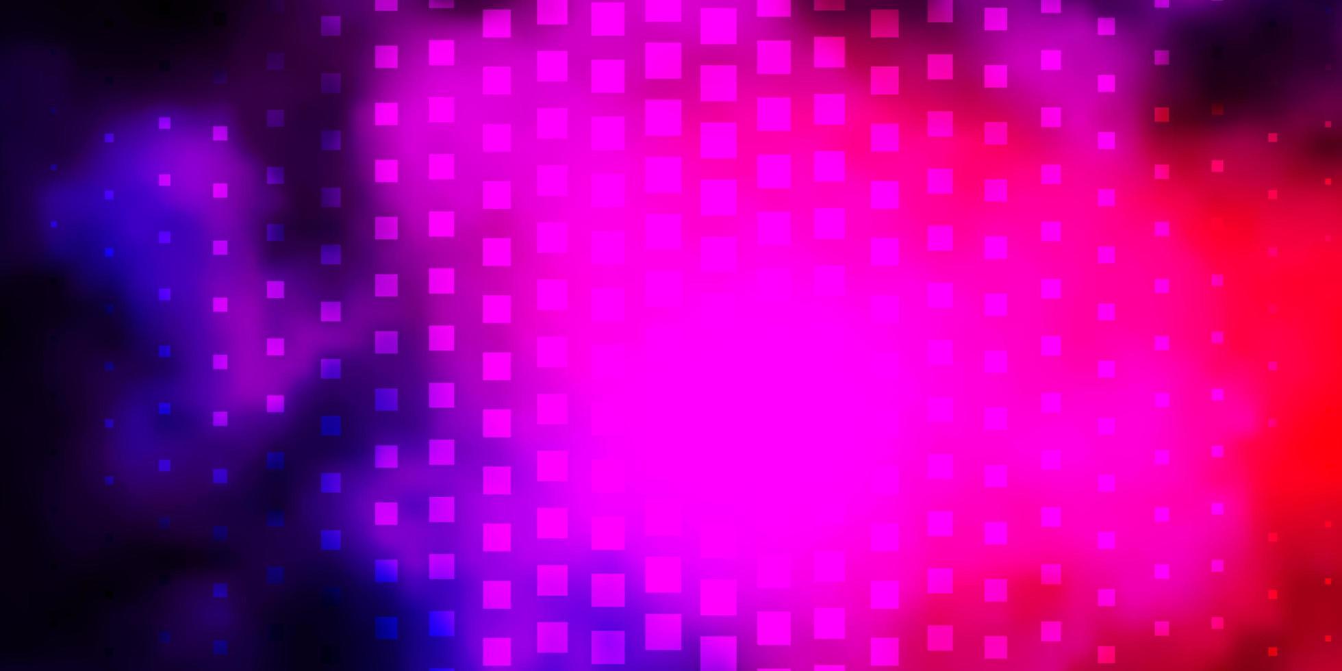 donkerroze, blauwe vectortextuur in rechthoekige stijl. vector