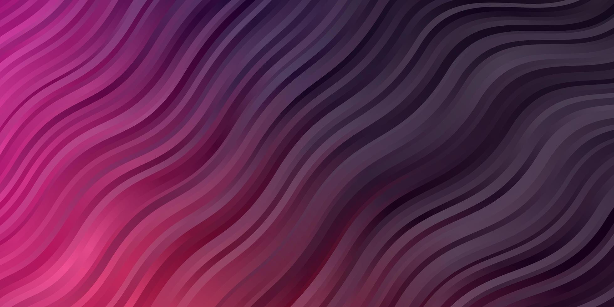donkerroze vectorpatroon met krommen. vector