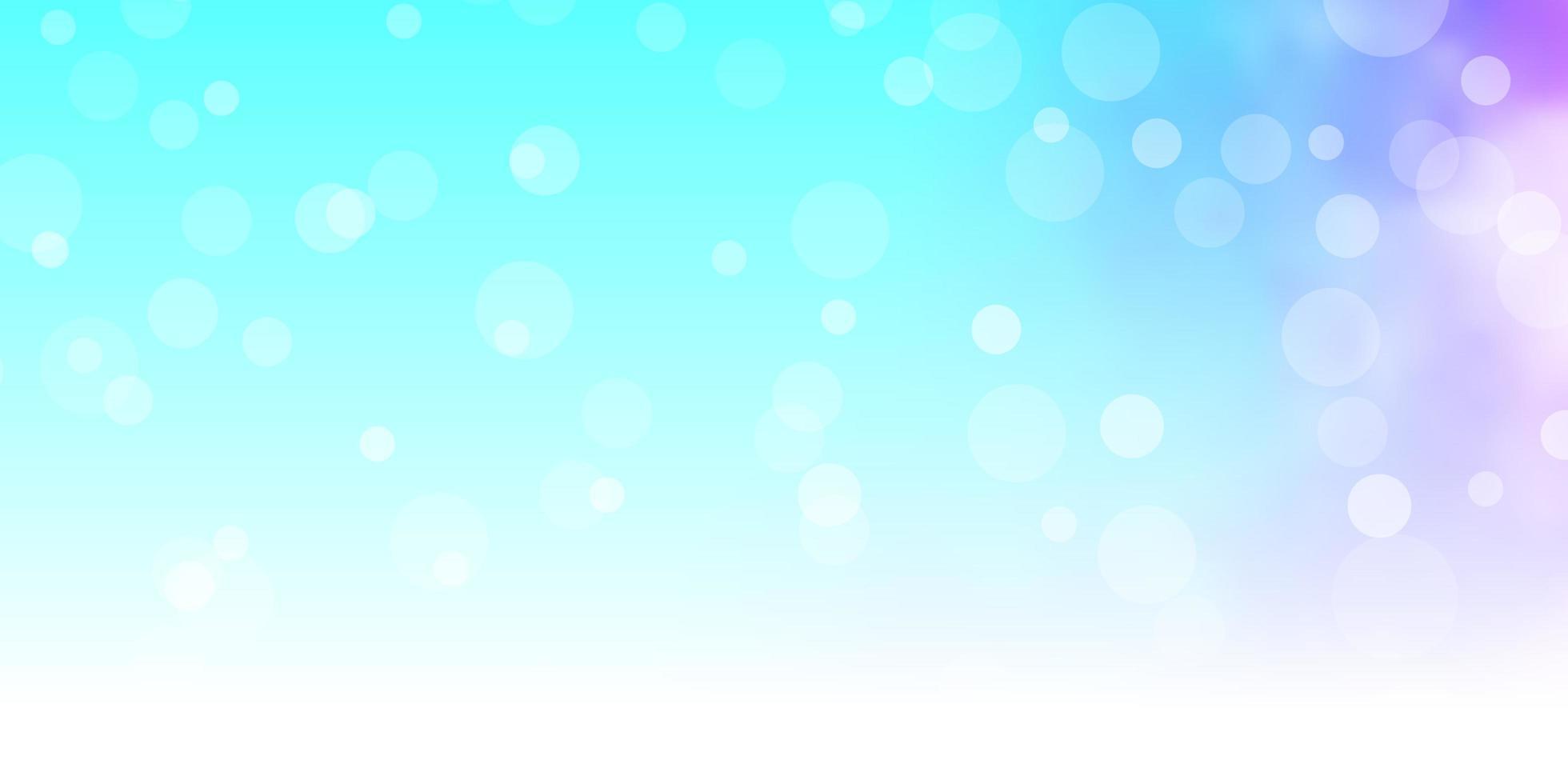 lichtroze, blauwe vectorachtergrond met cirkels. vector