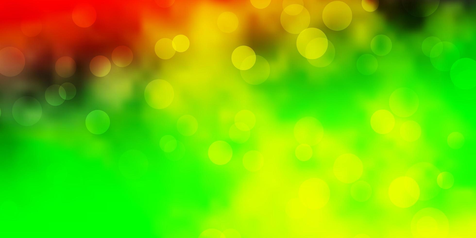 licht veelkleurige vector lay-out met cirkels.