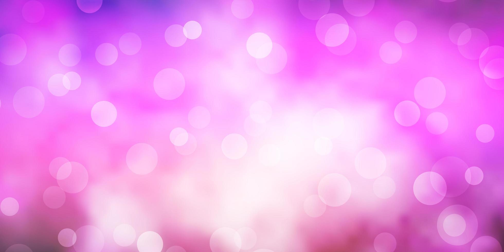 donkerpaarse, roze vectorlay-out met cirkelvormen. vector