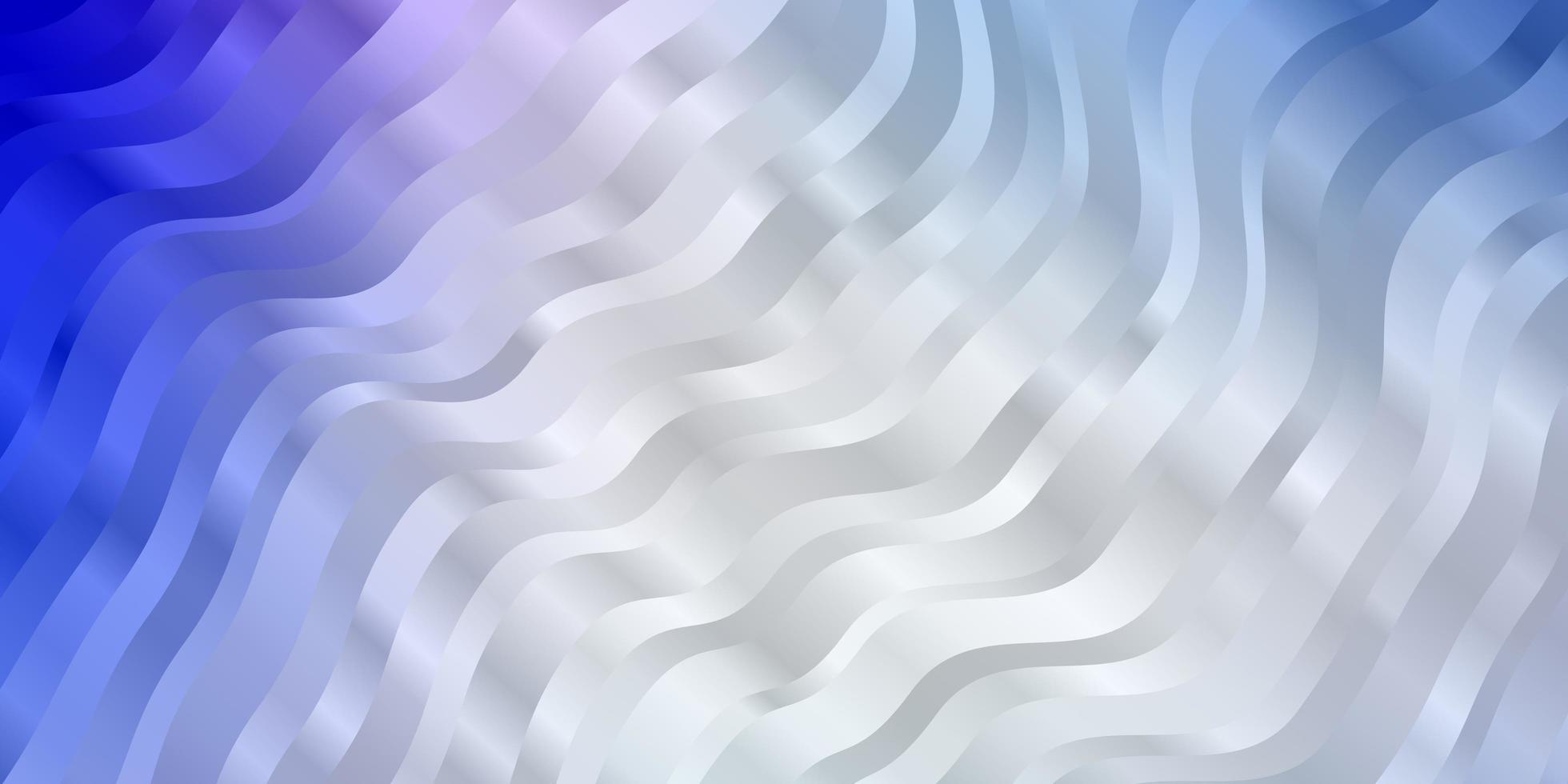 lichtroze, blauwe vectorachtergrond met golvende lijnen. vector