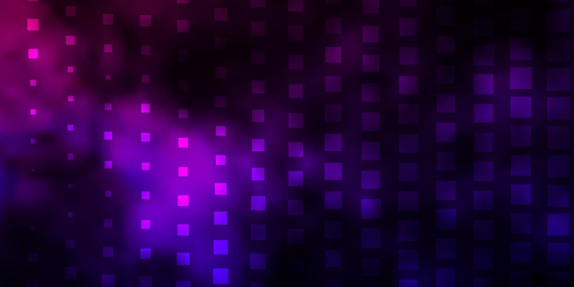 donkerpaars, roze vectorachtergrond met rechthoeken. vector