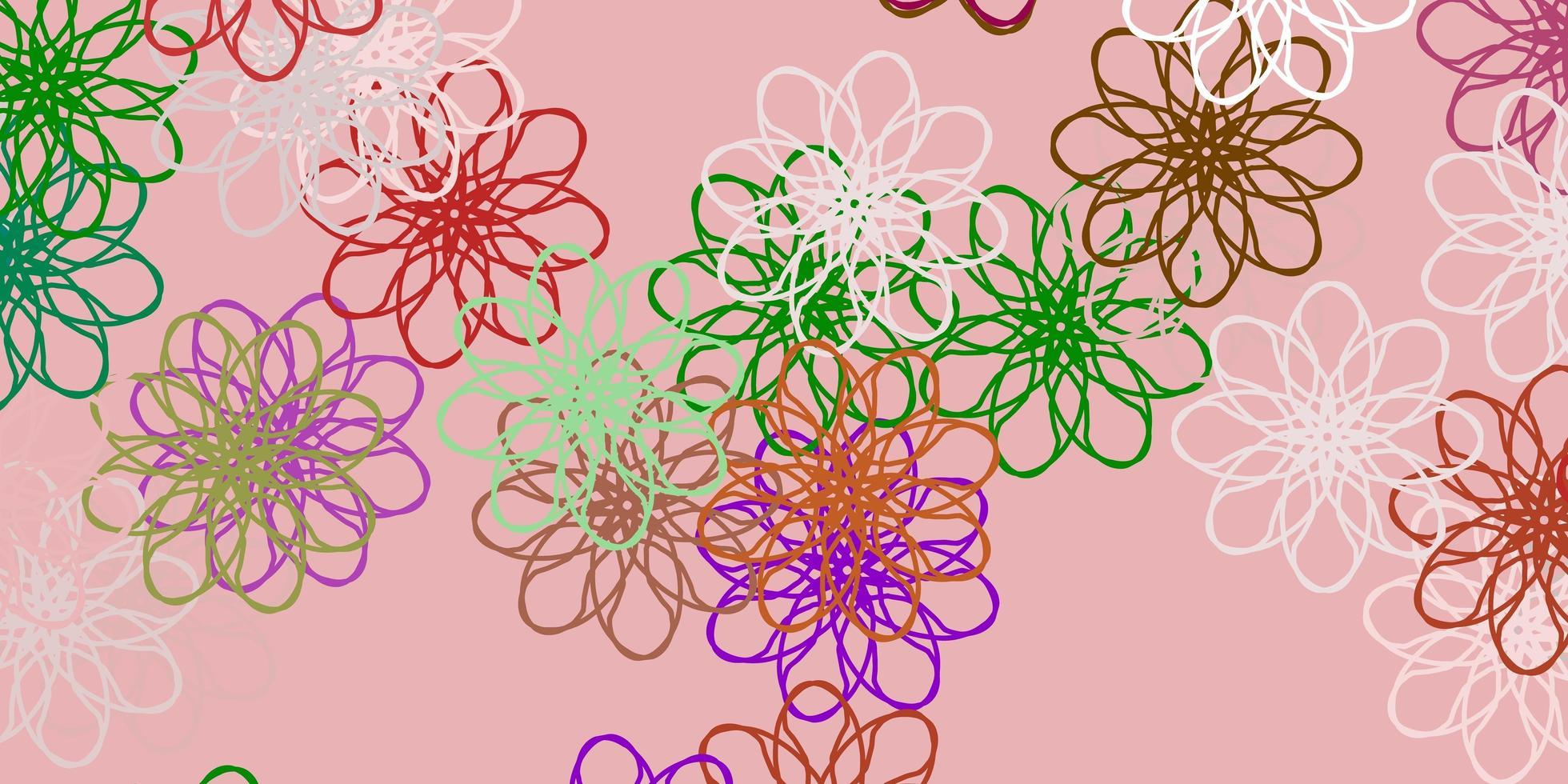 licht veelkleurig vector natuurlijk kunstwerk met bloemen.