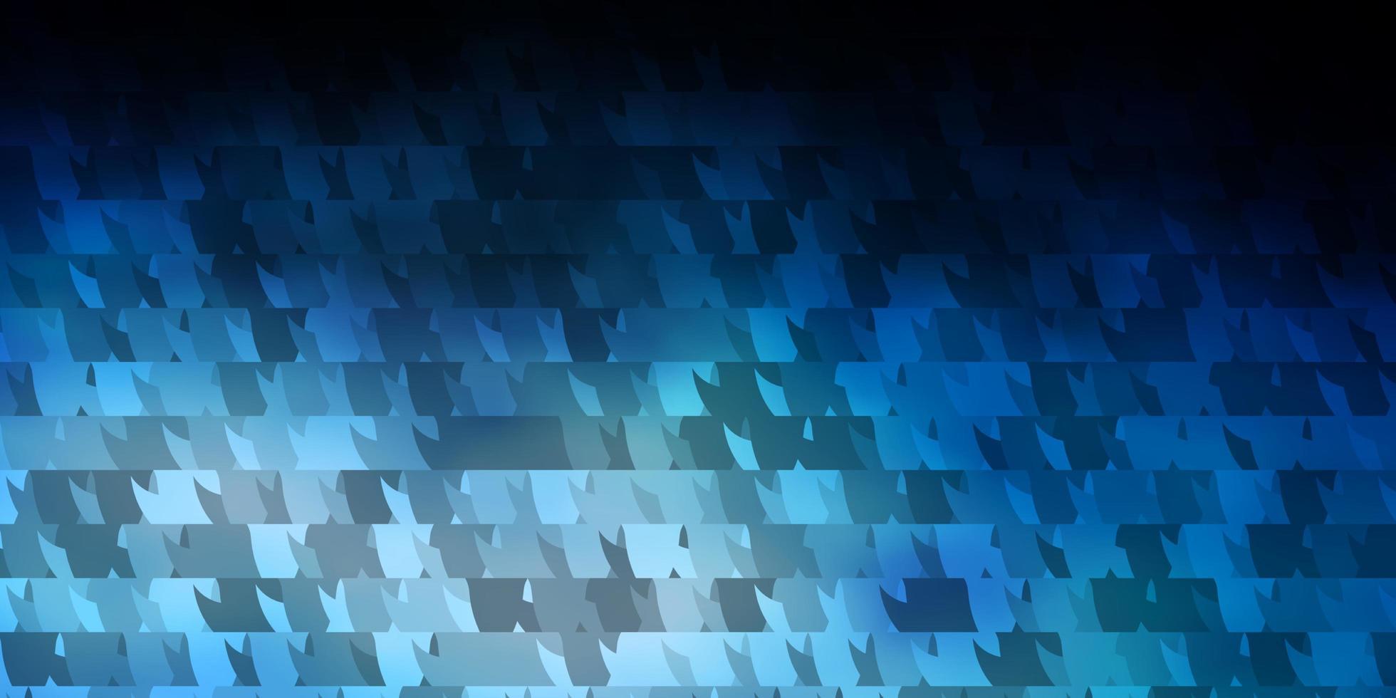 donkerblauwe vectorachtergrond met lijnen, driehoeken. vector