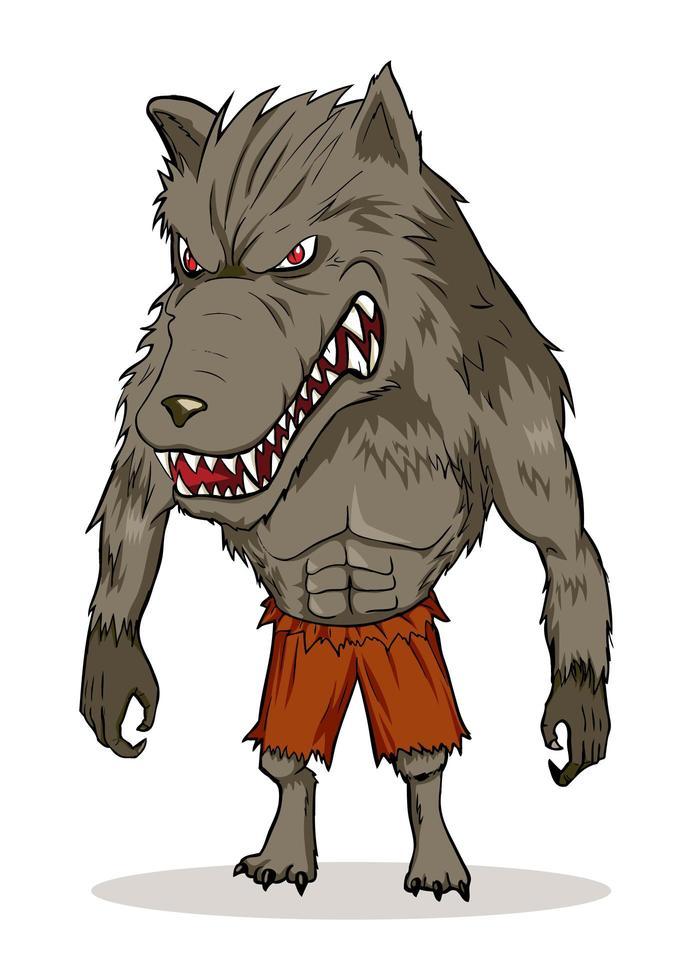 weerwolf cartoon afbeelding vector