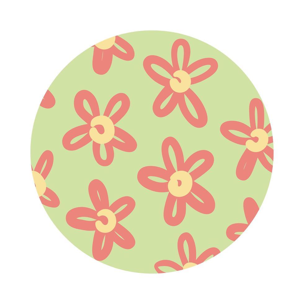 bloemen organische patroonblokstijl vector