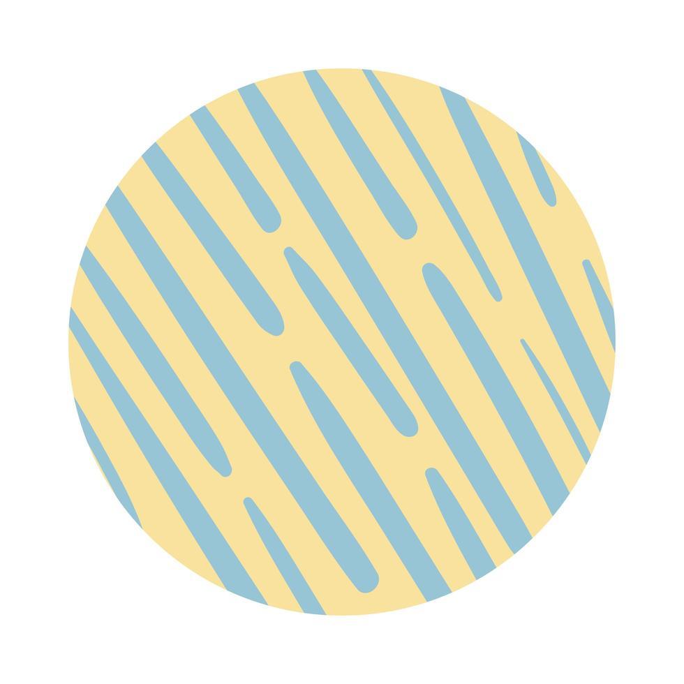 lijnen organische patroonblokstijl vector
