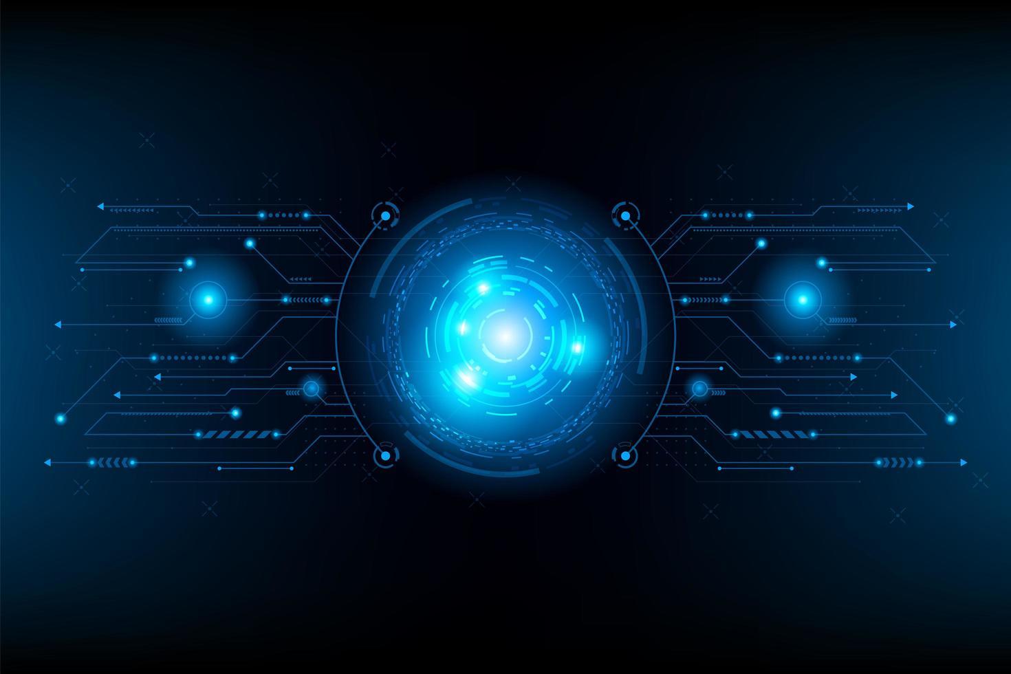 abstract futuristisch circuit. verbindingslijncircuit vector