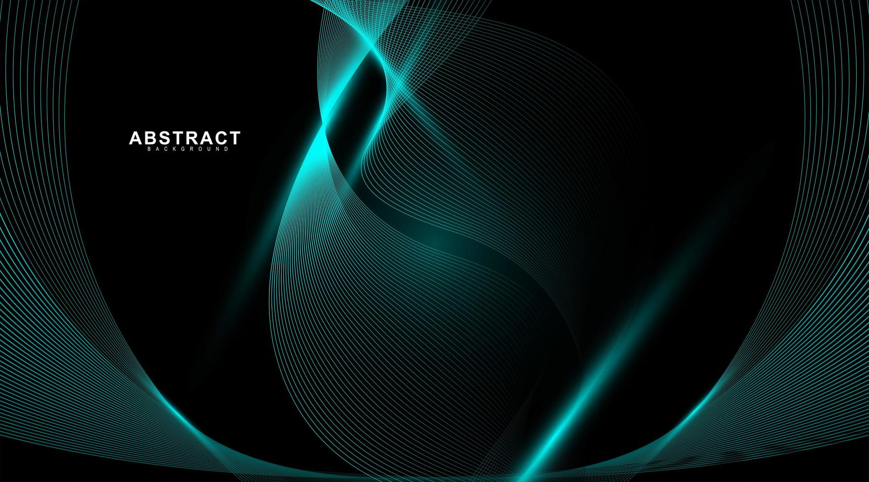 abstracte achtergrond van golvende en gloeiende blauwe lijnen. vector technologie digitaal ontwerp
