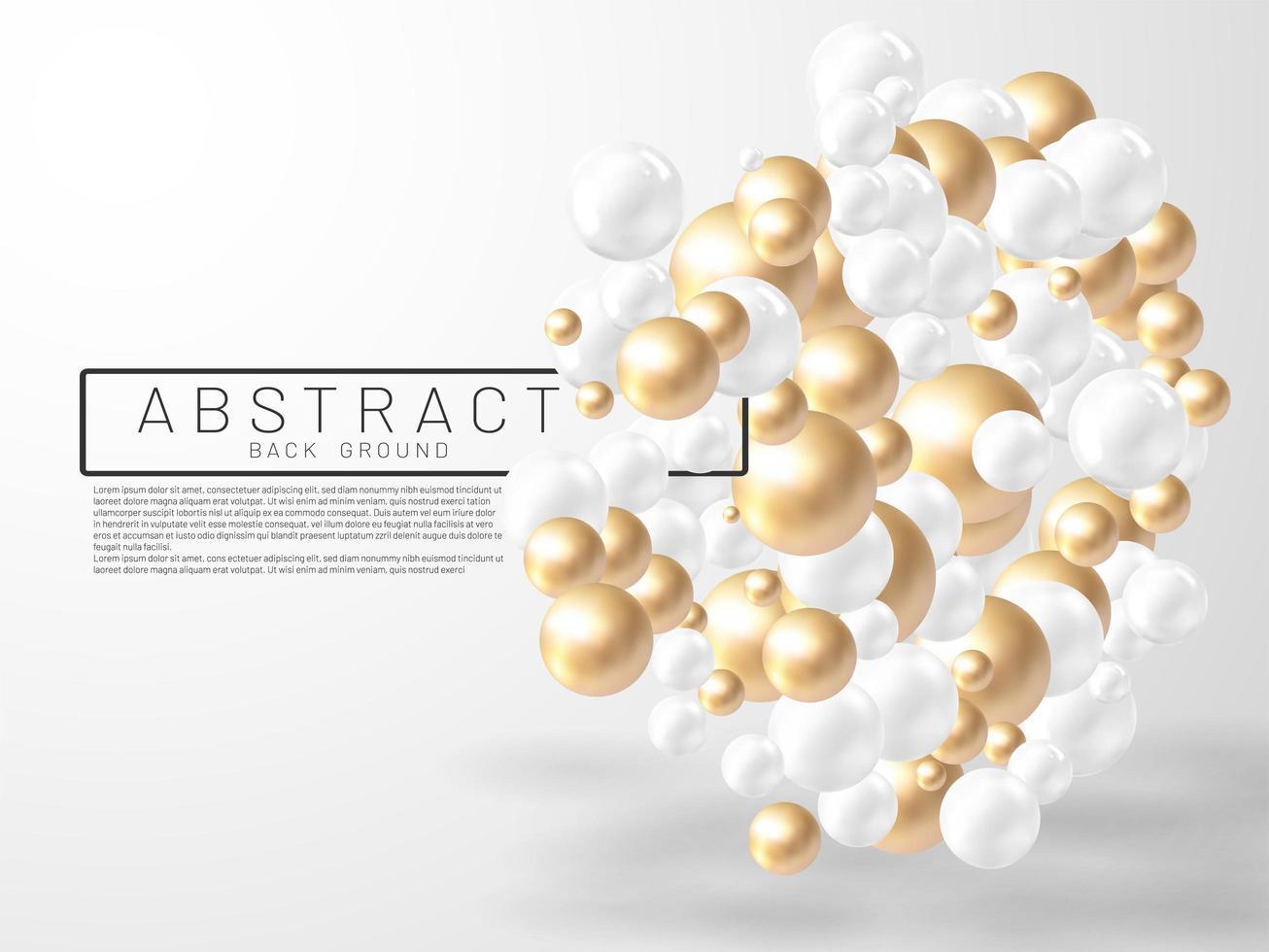 vectorillustratie van overlappende abstracte ballen of bellen. realistische 3D-teken. vector