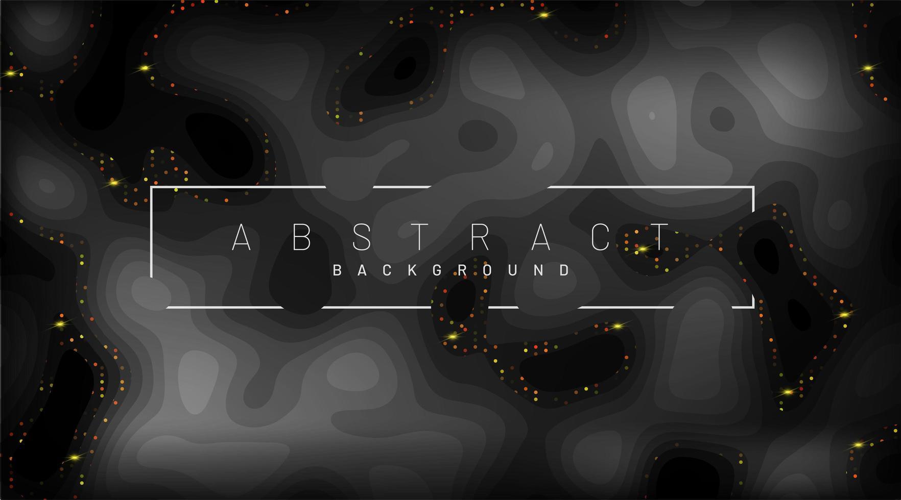 zwart papier gesneden achtergrond. decoraties van realistische stukjes papier met abstracte textuur met gegolfde lagen en gouden glans. 3D-vector illustratie. omslag lay-out sjabloon. vector