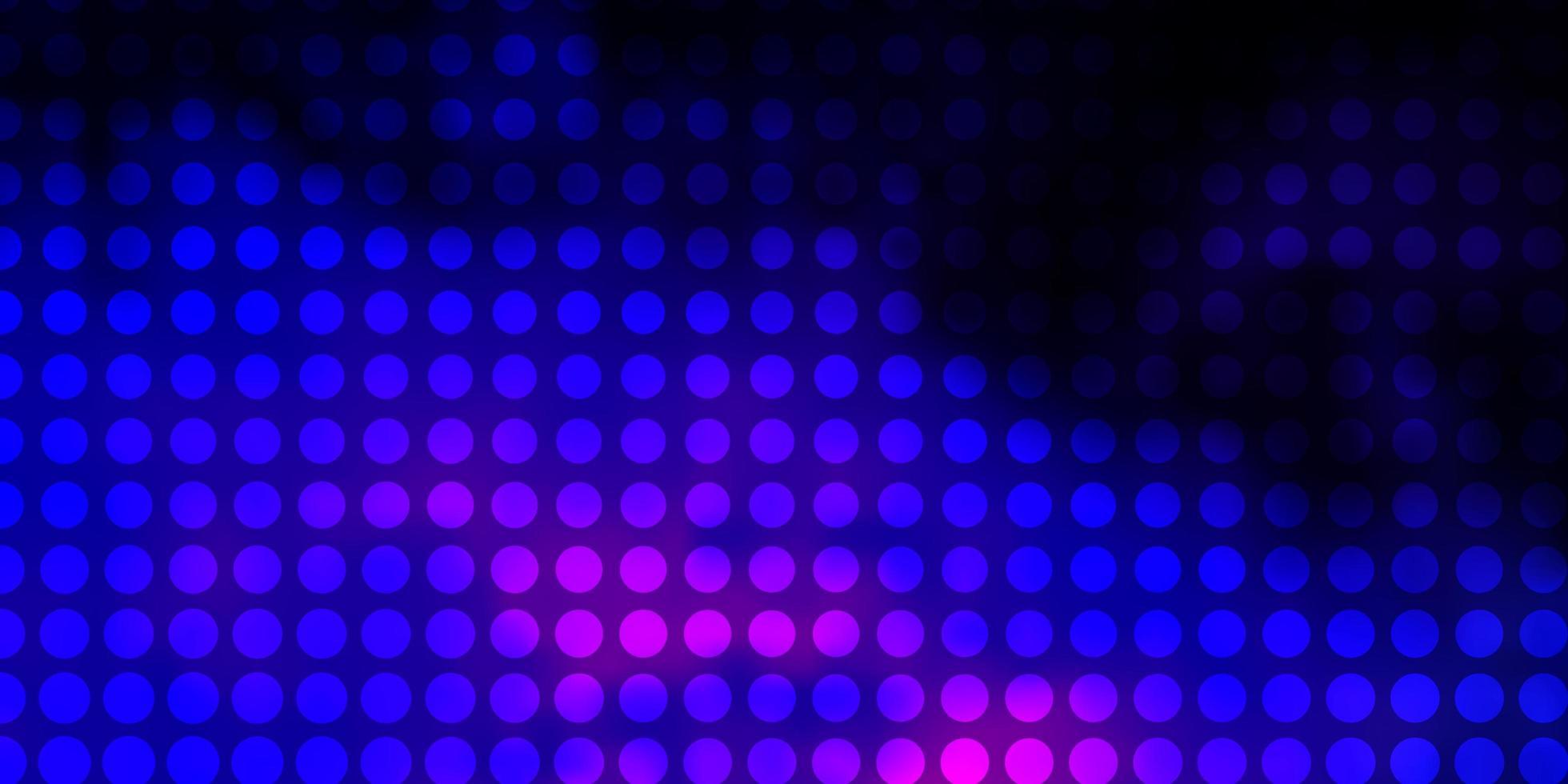 donkerroze, blauwe vectorlay-out met cirkels. vector