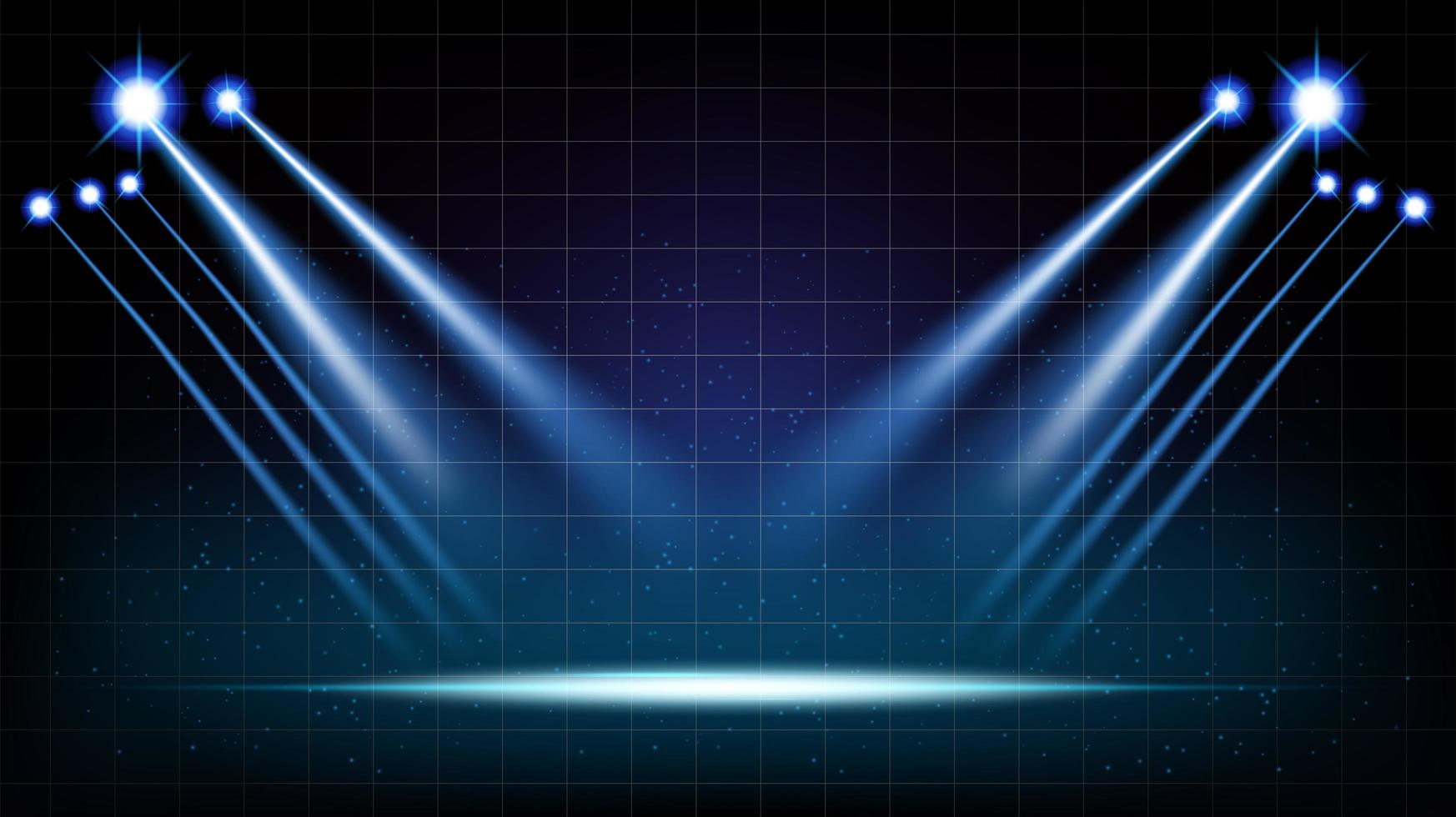 abstracte achtergrond podiumzaal met schilderachtige lichten vector