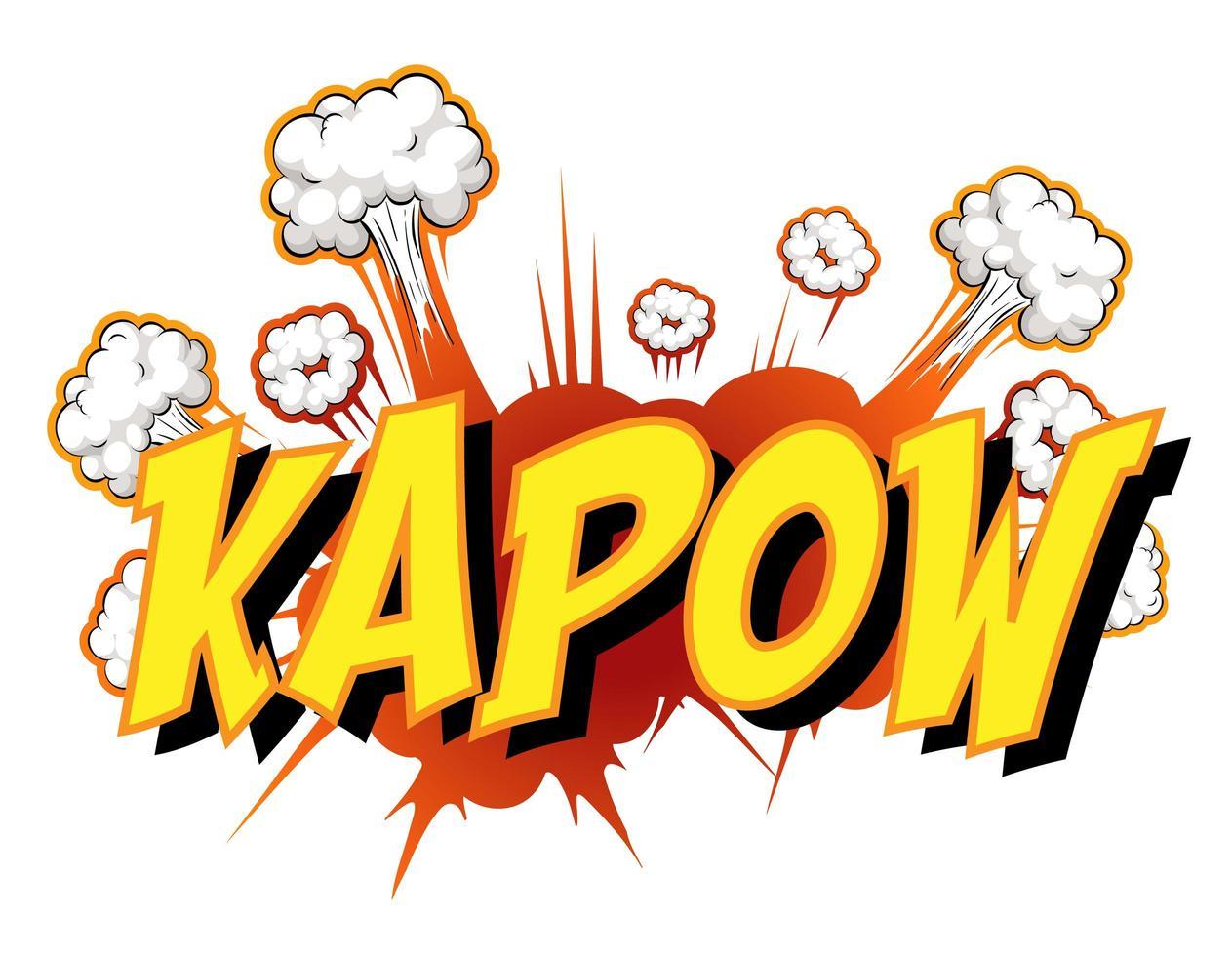 komische tekstballon met kapow-tekst vector