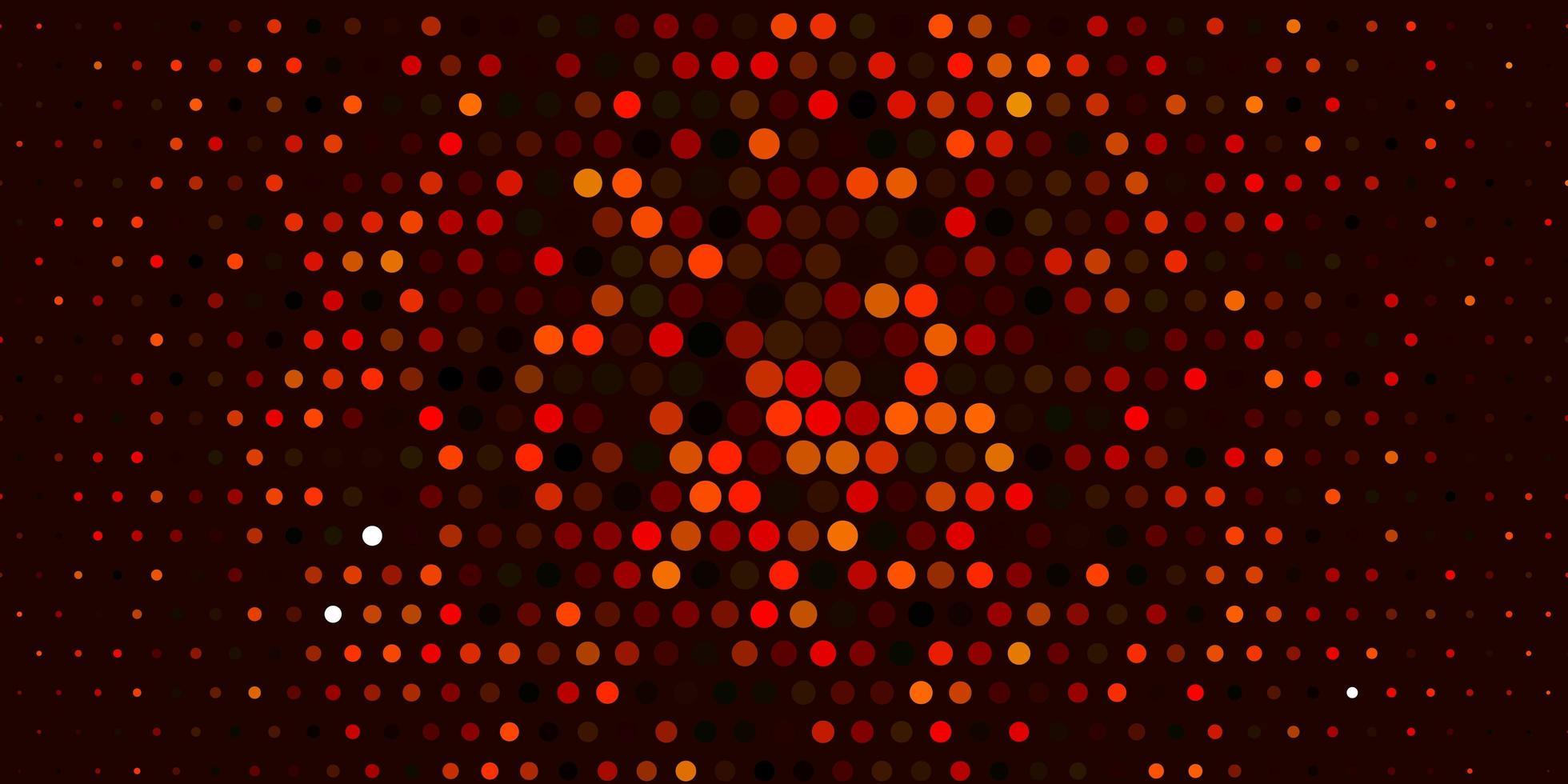 lichtoranje vectorlay-out met cirkelvormen. vector