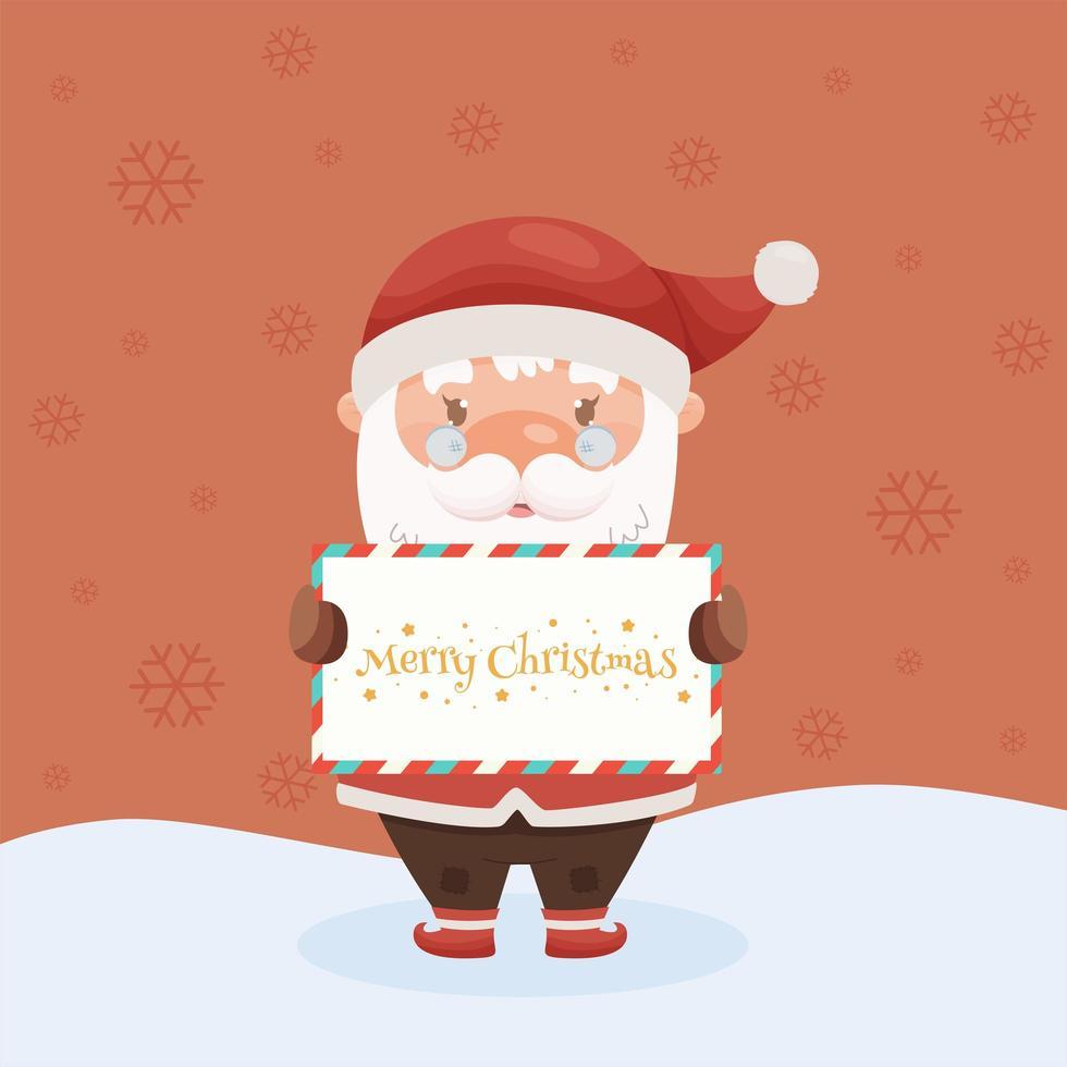 cute cartoon kerstman karakter. vector illustratie.